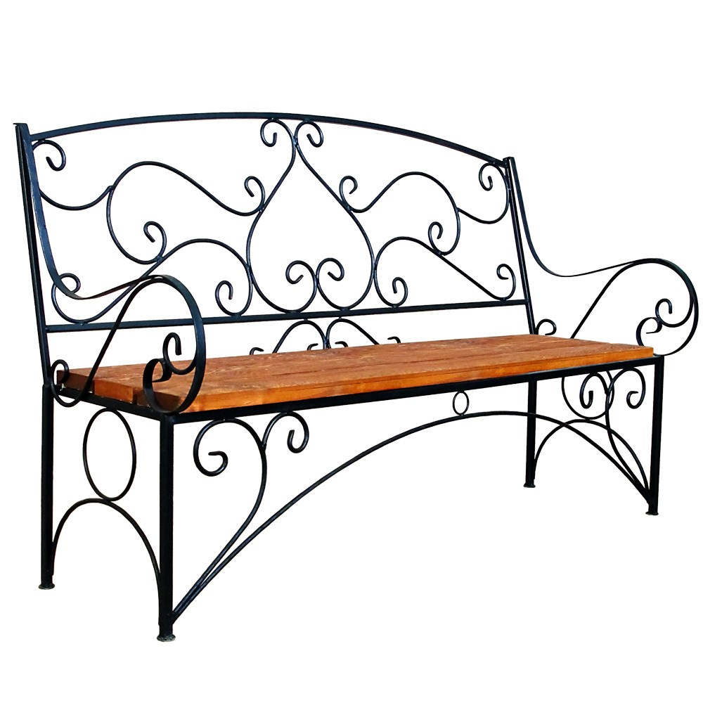Садовые скамейки и лавочки из металла