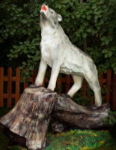 Волк на дереве