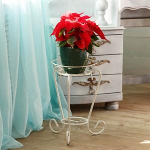 Подставка под цветы белая