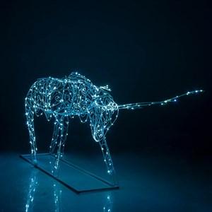 Световая фигура олень