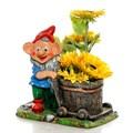 Кашпо для цветов гном с тачкой